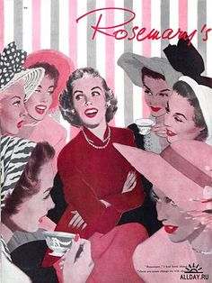 Afternoon tea and gossip with the neighbor ladies. ~ Jon Whitcomb, ca. 1950s