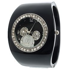 Black Cuff Mickey Mouse Watch for Women $34.50