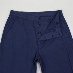 Big Pocket Chino - French Navy | MHL By Margaret Howell | Peggs & son.