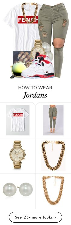 """Fenchi Official"" by perfectlyjayx on Polyvore featuring Forever 21, Michael Kors and Retrò"