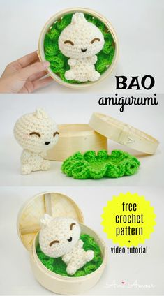 Mesmerizing Crochet an Amigurumi Rabbit Ideas. Lovely Crochet an Amigurumi Rabbit Ideas. Crochet Kawaii, Crochet Gratis, Crochet Amigurumi Free Patterns, Crochet Food, Crochet Animal Patterns, Cute Crochet, Crochet Dolls, Knitted Dolls, Crochet Bags