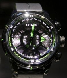 Citizen Satellite Eco-Drive Watch: Gets Time From Space Watch Releases