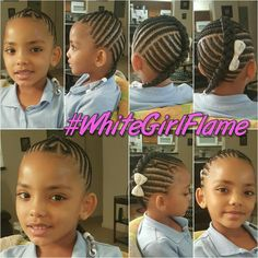 Cute Lil Girl Hairstyles, Girls Natural Hairstyles, Natural Hairstyles For Kids, Kids Braided Hairstyles, Princess Hairstyles, Natural Hair Styles, Little Girl Braids, Black Girl Braids, Braids For Kids