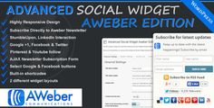 Advanced Social Widget Aweber Edition  - Advanced Social Widget Aweber Edition adds an advanced widget box to your WordPress theme sidebar giving users the ability to link your site to all the popular Social Networking sites such as Delicious, Twitter, Facebook, StumbleUpon, Pinterest, LinkedIn, Youtube and access to FeedBurner & Aweber Email Subscription.