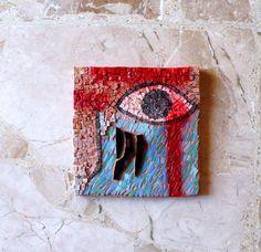 mosaic art / wall art mosaic / tribal by LaTenagliaImpazzita