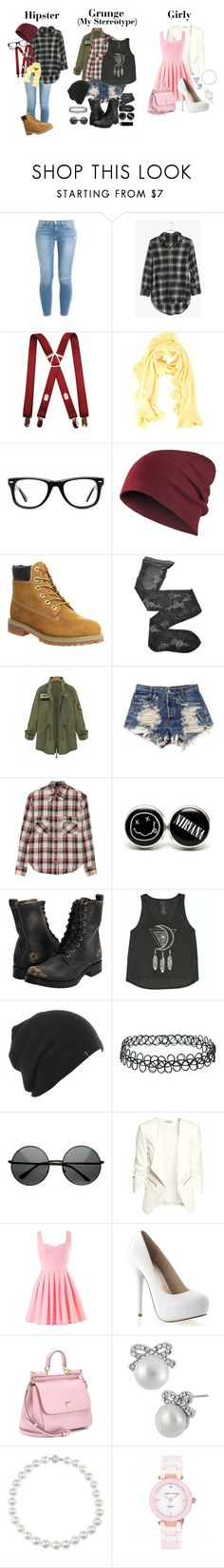 """""""Stereotype Tag!"""" by ticci-toby ❤ liked on Polyvore featuring Frame, Madewell, Magaschoni, Muse, Timberland, Fogal, Levi's, Étoile Isabel Marant, Frye and Billabong"""