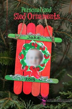 These adorable sled craft ornaments are part of my child care kids parent gifts this year. I always like to incorporate their photos into holiday crafts – it's just amazing how much they change in a year! To make the sled ornaments: Lay 4 wide craft sticks side by side. Apply glue to one thin […]