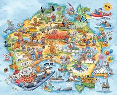 Australia by Richard Galbraith - what a great card - love it.  Do you want to come to Oz to work - CFT QLD provide accredited courses so that you can get a great job working in hospitality.  You can do it online NOW!  Help available.  Go to www.cftqld.com.au