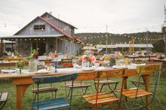rustic outdoor wedding reception in austin on green wedding shoes