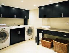 A laundry room in the basement creates a perfect place to iron, wash and dry your clothes or handle your hand-washables Tags: basement laundry room ideas, basement laundry room remodel, basement laundry room makeovers, basement laundry room cabinets Laundry Room Shelves, Laundry Room Remodel, Laundry Room Cabinets, Basement Laundry, Laundry Room Organization, Laundry Room Design, Laundry Baskets, Laundry Storage, Storage Room