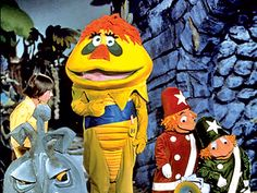 HR Pufnstuf (Where's Witchiepoo?)  This makes me feel icky.  I had a book of these characters- they creeped me out as a kid too!