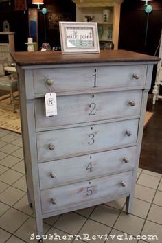 Southern Revivals: Typography Chest of Drawers An Anthropologie Inspired Revival