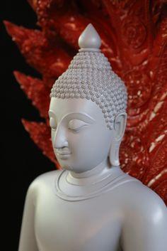 """""""สุข สงบ ทรงพลัง"""" ส่วนพระพักตร์_พระพุทธรูปปางนาคปรก ออกแบบและปั้นโดย อนิรุทธ์ คงถาวร Buddha, Statue, Art, Art Background, Kunst, Performing Arts, Sculptures, Sculpture"""