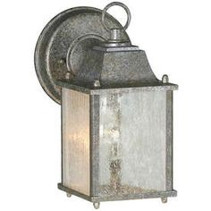 9-In H River Rock Outdoor Wall Light Lw17550159
