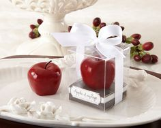 Apple of My Eye Mini Apple Candle - Wedding Favors by Kate Aspen