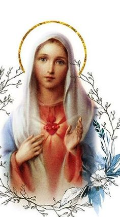 Mother Mary Pictures, Holly Pictures, Blessed Mother Mary, Blessed Virgin Mary, Jesus E Maria, Pictures Of Jesus Christ, Mary And Jesus, Pope John, Hail Mary