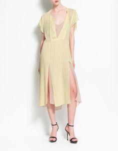 Zara Pleated Dress With Splits