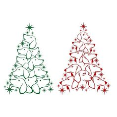 Dachshund Christmas Tree Cuttable Design PNG DXF SVG & eps File for Silhouette Cameo and Cricut Dachshund Clothes, Dachshund Art, Dapple Dachshund, Daschund, Image Svg, Weenie Dogs, Christmas Svg, Xmas, Christmas Trees