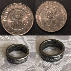 Coin Jewelry, Jewelry Rings, Gaelic Tattoo, Custom Coins, Ring Making, How To Make Rings, Coin Ring, Pendants, Personalized Items