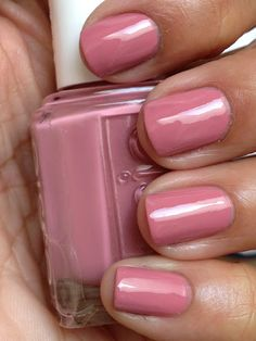 "Essie Marathin is described as ""a fit, rosy pink"".  Marathin is a slightly dusky, yet cool rose creme.  Also, covered nicely with two coats."