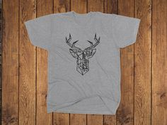 Excited to share the latest addition to our #alberta #etsy shop: Antler Tee #clothing #staywildoutdoors #outdoors #geometric #deer