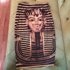 Egyptian skirt Tight, form fitting Egyptian-print mini skirt (same image on both sides); elastic waistband. Willing to negotiate ✨ Skirts