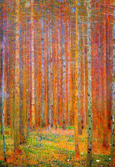 Gustav Klimt Tannenwald I Art Print Poster