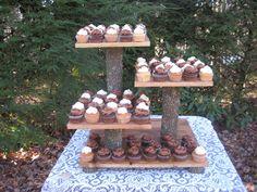 Rustic Wedding Cake Stand Cupcake Dessert by YourDivineAffair, $159.95