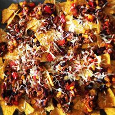 Chili con Carne with nachos!! #chili #chiliconcarne
