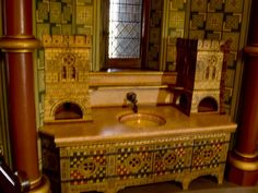 Castell Coch- Lady Bute's bathroom