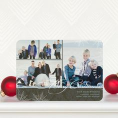 Nostalgic Night - #Christmas Cards by simplyput by Ashley Woodman for Tiny Prints in Dark Gray