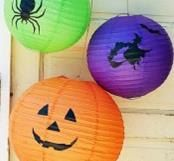 Items similar to Lanterns Indoor 3 Hanging Lanterns Outdoor Paper Lanterns Globe Lanterns Deck Lights Party Decoration Hanging Lights Paper Lights Birthday on Etsy Halloween Lanterns, Paper Lanterns, Pumpkin Carving, Hanger, Indoor, Awesome, Unique Jewelry, Handmade Gifts, Vintage