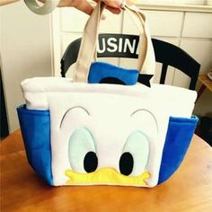 Disney Tsum Tsum Donald Duck Big Face Plush Handbag Lunch Box Bag Uu23 Cute Gift
