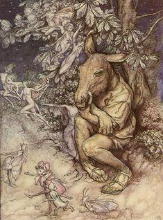 Arthur Rackham - A Midsummer Night's Dream, Act IV, Scene i: Bottom and Titania
