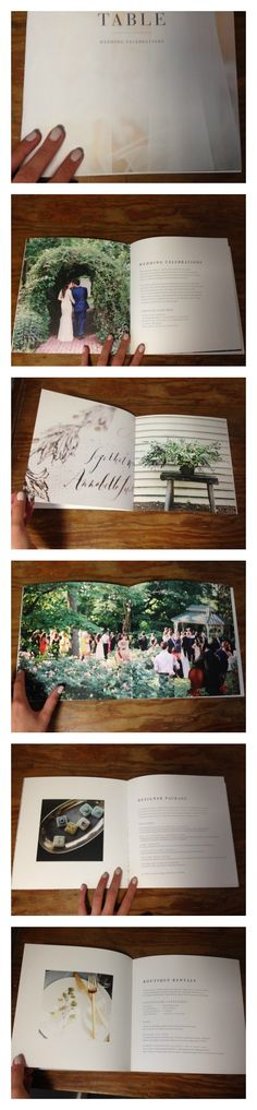 Beautiful wedding planner informational booklet with saddle stitch binding. Gorgeous photographs