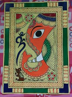 New painting abstract techniques artists 66 Ideas Madhubani Art, Madhubani Painting, Worli Painting, Painting Abstract, Lord Ganesha Paintings, Ganesha Drawing, Kalamkari Painting, Indian Paintings, Indian Artwork