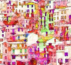 """ITALY BY STEVEN FRIEDMAN. New media includes computer graphics, digital painting, digital art and  photo painting. This is a beautiful digital painting. Now scroll through Pinterest pins of """"Digital Painting As Art"""" which have impressed Two Bananas Art and me the most.  SEE MORE DIGITAL PAINTING AS ART NOW.... https://richard-neuman-artist.com/works"""