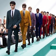 PAUL SMITH, SS13. (Wish I could get away with these colored suits -- one for every day of the month.)