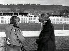 Camilla & engaged Diana. Very rare picture! Diana was already worried about Camilla's involvement with Charles.