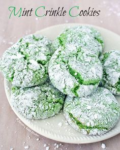 Mint Crinkle Cookies Recipe on Yummly. @yummly #recipe