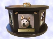 Decorative Engraved Rotating Photo Pet Urn Dog Cat Up to 100 Lbs Baby Dogs, Pet Dogs, Dog Cat, Dog Urns, Dog Memorial, Memorial Ideas, Pet Memorials, Dog Bowls, Your Pet