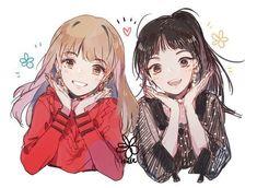 Wendy and seulgi fanart Cute Anime Chibi, Chica Anime Manga, Anime Girl Cute, Cute Anime Couples, Anime Art Girl, Anime Group Of Friends, Friend Anime, Anime Best Friends, Anime Girl Drawings