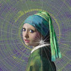 Aqua tones Girl with a pearl earring Girl With Pearl Earring, Pearl Earing, Mona Lisa, Art Optical, Johannes Vermeer, Dutch Golden Age, Famous Artwork, Political Art, Classic Paintings