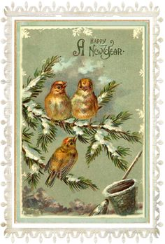 Old new years postcard- THERE IS JUST SOMETHING ABOUT THE VINTAGE - TOTALLY TIMELESS