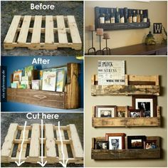 Shelves made from pallets i love a good diy project for the home do it yourself vintage regale solutioingenieria Images