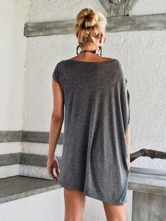 Gray Melange Asymmetric Dress Blouse Tunic / by SynthiaCouture