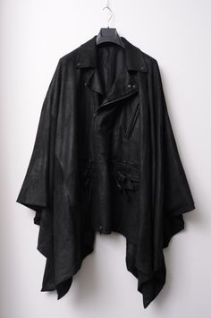 black leather pancho? yes.