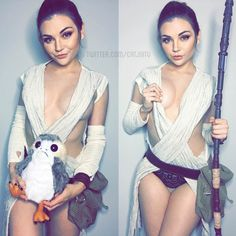 Rey and a porg lol by Catjira : cosplaygirls