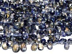 Iolite pear faceted beads strands (Code-22\68)  http://etsy.me/1uhV0G4,  http://etsy.me/1mFe0ZJ  #lolite #lolitepeatfacetedbeads