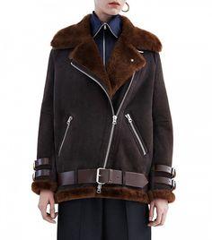 Acne Studios Velocite Suede Shearling Moto Jacket